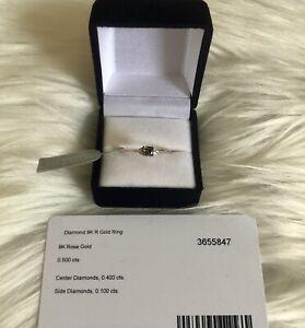 Chocolate Diamond Engagment Ring 9k gold size S