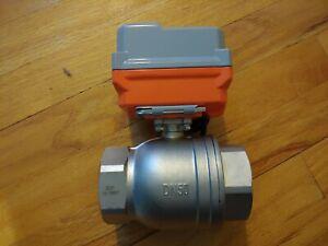 """2"""" stainless steel motorized valve motor 12VDC 15W"""