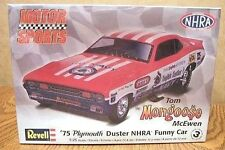 REVELL '75 PLYMOUTH DUSTER NHRA FUNNY CAR MONGOOSE 1/25 SCALE MODEL KIT