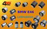 LEMFORDER BMW 3 E46 REAR AXLE TRAILING SUBFRAME ARM BUSHES BUSHING KIT  SET