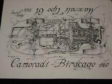 MASERATI BIRDCAGE TIPO 61 MOSS GURNEY CAMORADI  tirage numéroté et signé