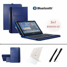 "3 IN 1 SET 10.1"" Bluetooth Keyboard Case For Samsung Galaxy Note 10.1  - Blue"