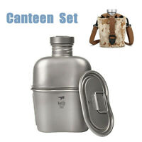 Army Titanium Canteen Water Bottle Cup Pot Outdoor Activities Tool Set  AU B G