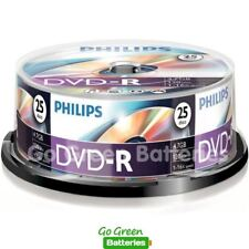 25 x Philips DVD-R Blank Recordable Discs 4.7GB 120 Mins 1-16x Speed Spindle