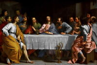 Art Canvas Giclee Print The Last Supper Oil Painting Printed on Canvas P1249