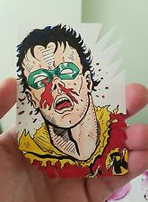 AWESOME BATMAN (ROBIN) CUT HAND DRAWN SKETCH CARD BY CHARLES MARTIN DC COMICS