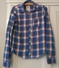 Woman's HOLLISTER Blue Checked Shirt/Top - Size XS