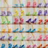 Mini 80pcs 40 Pairs Different High Heel Shoes Boots For 29cm Doll Dresses