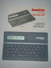 Franklin Computer Spelling Ace Sa-98 With User's Manual.