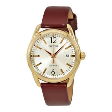 Citizen Drive Burgundy Leather Band  Ladies Watch FE6083-05P