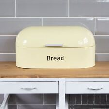 Retro Bread Bin Cream Steel Kitchen Top Storage Loaf Box New By Home Discount