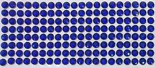 160 STRASS ADESIVI COLORE BLU SCURO 6 mm CORPO UNGHIE NAILART DECORAZIONI