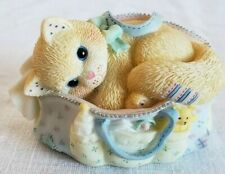 Calico Kittens collectible figurine Welcoming whole new bag tricks Enesco cat