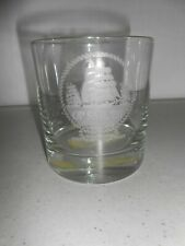 Vintage Etched Op Sail 80 Glass Boston Mass Rare Old Fashioned Bar Htf