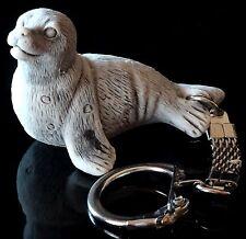 Baikal Lake Seal Keychain Keyring Pendant Marble Stone Figurine Sculpture