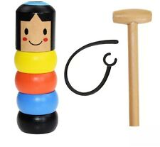 Unbreakable Wooden Man Magic Immortal Stubborn Small Game Wood Kids Toys