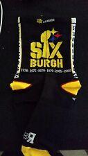 "Pittsburgh Steeler ""Sixburgh"" socks (Mens, SM, BLK)"