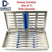 Dental Surgical Gracey Curettes Periodontal Instruments Cassette Rack Tray Box