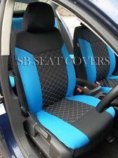 CHEVROLET CRUZE / SPARK CAR SEAT COVERS BLUE CROSS STITCH FULL SET SBCSC208
