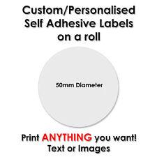 1000 Adesivi Cerchio Rotondo LE ETICHETTE STAMPATE PERSONALIZZATE personalizzato - 50mm di diametro