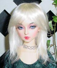 """DOLL Wig, Monique Gold """"Jojo"""" Size 6/7 White Blonde w Bleach Blonde"""