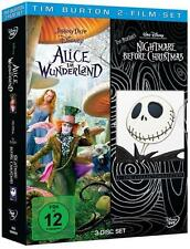 Tim Burton - 2 Film-Set Nightmare before Christmas / Alice im Wunderland