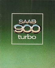 Saab 900 Turbo 1979 UK Market Sales Brochure 3-dr 5-dr