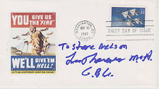 SIGNED COLONEL LEO THORSNESS FDC AUTOGRAPHED FIRST DAY COVER CACHET MOH VIET NAM