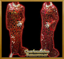 Custom Red Sequin Drag queen pageant long sleeve Gown