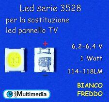 10 Led 3528 per retroilluminazione TV 6,2-6,4V  1W 114-118LM