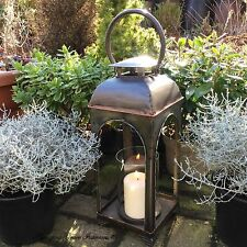 Antique Vintage Style Large Garden Lantern Candle Holder Indoor Outdoor