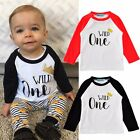WILD ONE Kids Baby Boys t-Shirt Toddler Clothing Tops Size 1 2 3 4 5