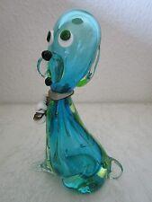 Murano Design vidrio personaje perro Venetian Glass figurine Italy Dog (c223)