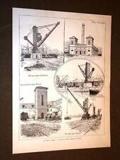 Porto di Genova nel 1887 Nuovo impianto idraulico Gru e accumulatore
