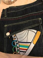 Coogi 44x35 Demin Baggy Urban Hip-Hop Street Wear Embroidered Pocket Denim Jeans