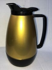 Vintage West Bend Thermo Serv USA black copper plastic coffee carafe pitcher 1lt