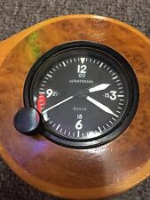 Wakmann 8 Day 24hr Wind Up Aircraft Clock Swiss Wooden Propeller Display