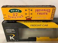 ✅K-LINE BY LIONEL HJ HEINZ PICKLES WOOD SIDE REEFER CAR PITTSBURGH PENNSYLVANIA!