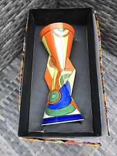 More details for sliced circle yo yo vase by wedgwood in the style of clarice cliff