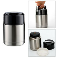 Insulated Lunch Container Food Jar Stainless Steel Vacuum Bento Lunch Box Silver