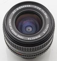 Minolta MC W.Rokkor W. Rokkor  28mm 28 mm Lens 1:3.5 3.5 Objektiv schwarz