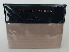 RALPH LAUREN Modern Icons Roth King FLAT Sheet Taupe Cotton $215 NEW