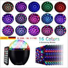 LED Discokugel Party Licht Musikgesteuert Discolicht 16 Farben Projektionslampe