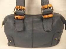 STONE MOUNTAIN BLUE SOFT LEATHER SHOULDER BAG HANDBAG