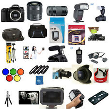 Canon EOS 80D 18-55mm STM 75-300mm YN 600EX RT 5 Years Warranty 60 Piece Pro KIT