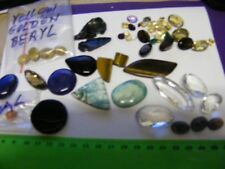 Large lot Genuine Natural Gemstones,wide variety,large & small.(Identified).X-34