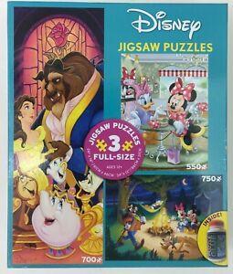 Ceaco Disney 3 jigsaw puzzles Beauty the Beast Mickey Minnie 550 700 750 pieces