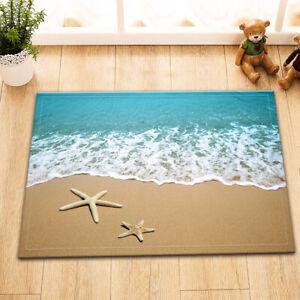 Starfish Beach Sea Home Area Rug Non-skid Kitchen Room Door Mat Floor Carpet