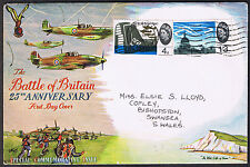 The Battle of Britain 25th Anniversary First Day Cover 1965 stamps SG676 & SG678