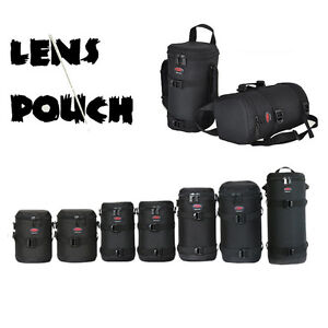 Thick Strong Nylon Padded DSLR Camera Lens Pouch Bag Protect Case / Option belt